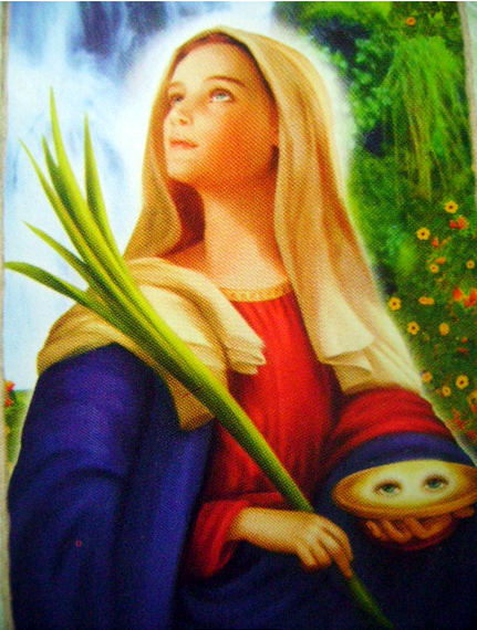 Image result for poem on St. Lucy