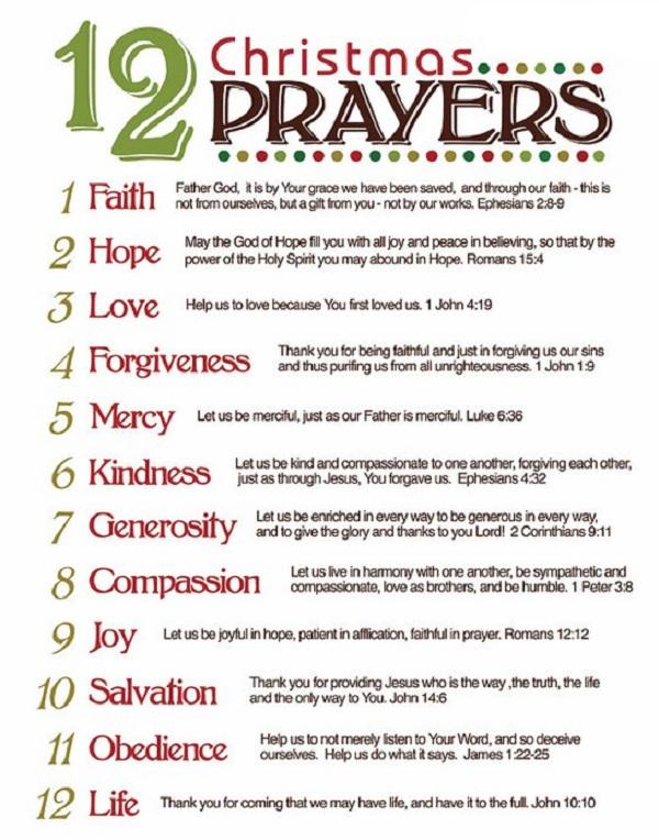 12 Christmas Prayer | † My Little Catholic Nook ツ