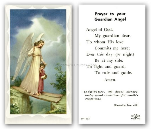 Prayer to Guardian Angel – † My Little Catholic Nook ツ