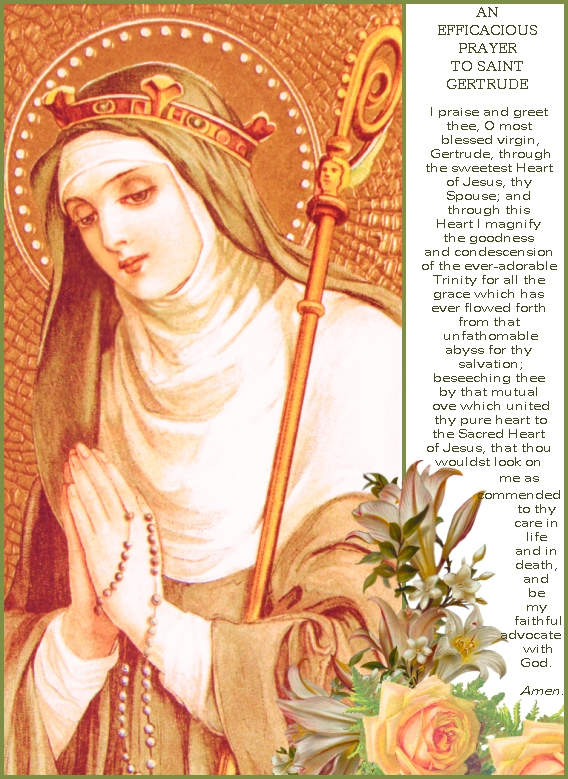 St.Gertrude prayers