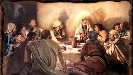 Communion Jesus and disciples